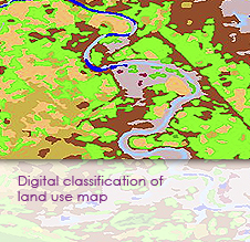 Digital classification of land use map